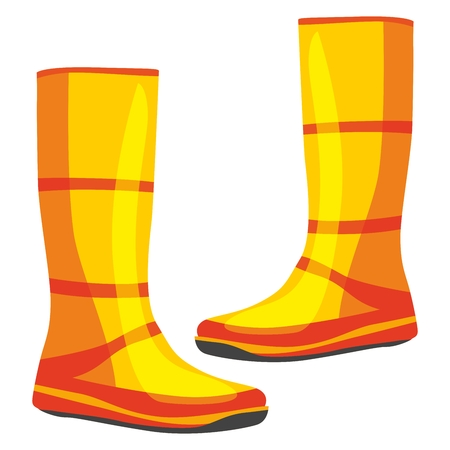 fully editable  illustration of isolated rubber boots Stock Vector - 7810102