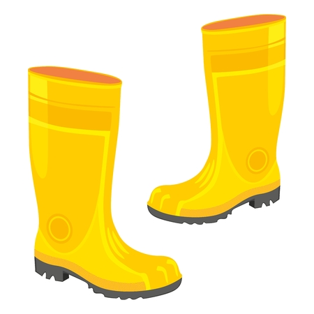 fully editable  illustration of isolated rubber boots Stock Vector - 7810112