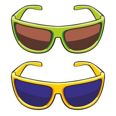 fully editable   illustration of sun glasses Stock Vector - 7810096