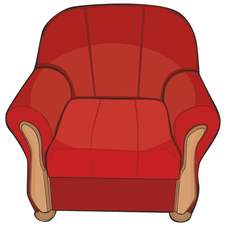 armchair: fully editable vector illustration of isolated colored armchair