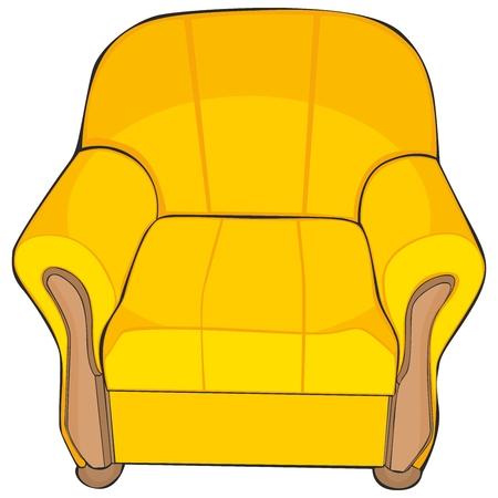 leather chair: illustrazione vettoriale completamente modificabile isolato colorata poltrona Vettoriali