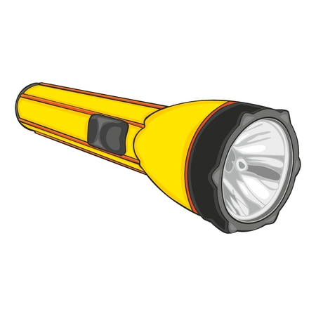 fully editable illustration of isolated flashlight Vector