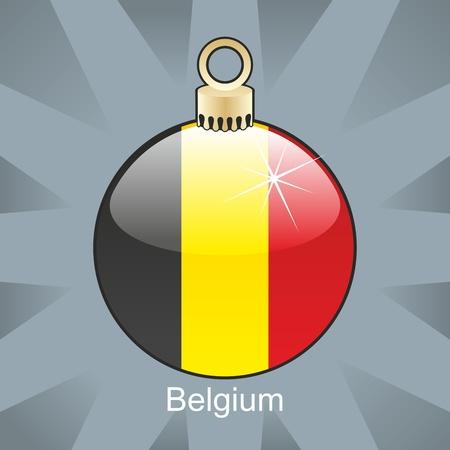 fully editable illustration of isolated belgium flag in christmas bulb shape Stock Vector - 8420190