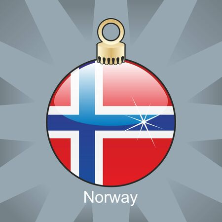 fully editable illustration of isolated norway flag in christmas bulb shape Stock Vector - 8420193