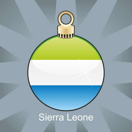 fully editable illustration of isolated sierra leone flag in christmas bulb shape Stock Vector - 8420267