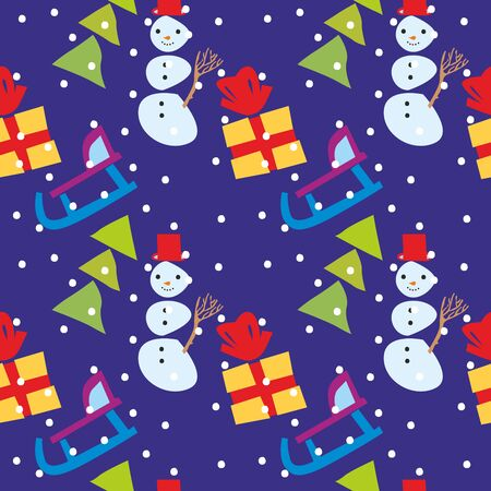fully editable vector illustration seamless pattern with christmas items Stock Vector - 8447814