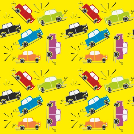 illustration seamless pattern car crash Illustration