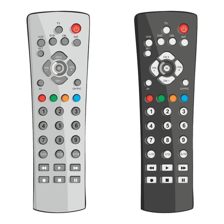 tv remote: fully editable illustration remote control
