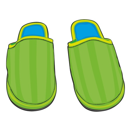 warmly: fully editable illustration home slippers