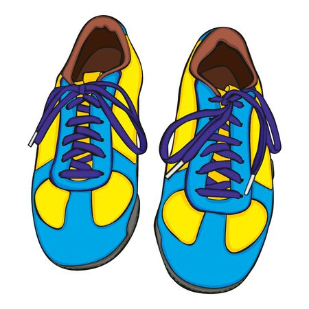sneaker: fully editable vector illustration of isolated shoes
