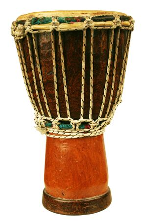 Traditional djembe isolated on white background Stock Photo - 12800526