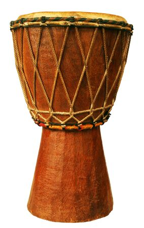 Traditional djembe isolated on white background Stock Photo - 12800506