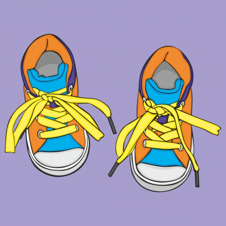 chaussures fille: enti�rement modifiable vecteur Illustration d'une paire de chaussures de fille