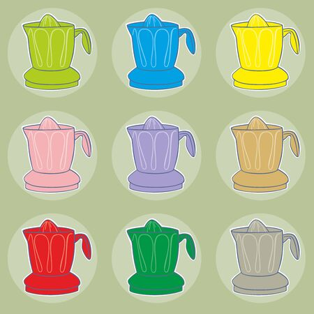 squeezer: fully editable vector illustration of juicers