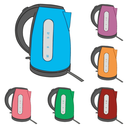 fully editable: fully editable vector illustration of electric kettles