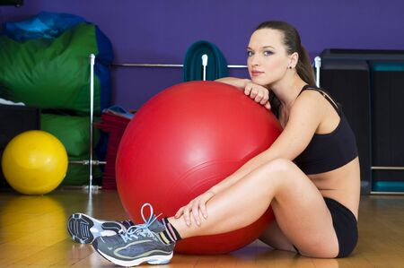 Portrait of a beautiful woman in the sport club Stock Photo - 4582605