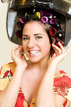 Portrait of the beautiful woman in the hairdresser Stock Photo - 4730994