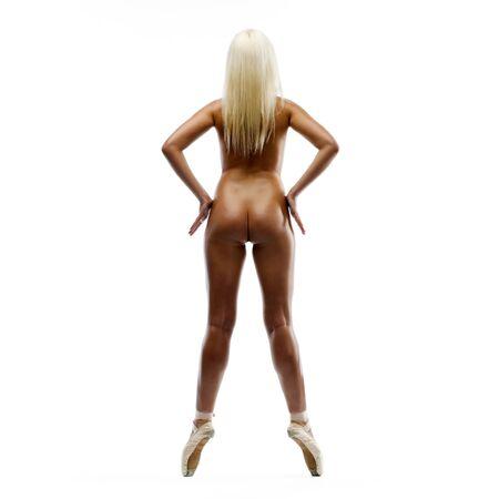 Back of the beautiful naked ballerina Stock Photo - 5924789