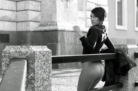 City Portrait of the beautiful woman