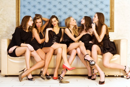 exposure: Group Portrait of six beautiful women