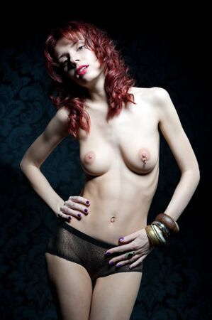 Nude beautiful woman with red hair Stock Photo - 9183143