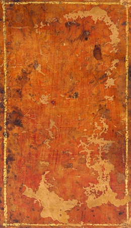 Object and texture. Cover of Antique book with leather cover. photo