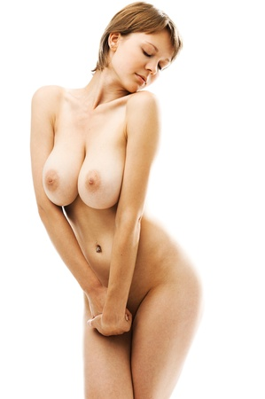 Naked beautiful woman with big breast. Isolated image. Stock Photo - 11172151
