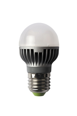 LED energy safing bulb. Light-emitting diode. Isolated object photo