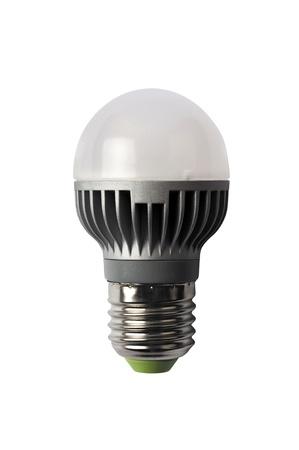 led lighting: LED energy safing bulb. Light-emitting diode. Isolated object
