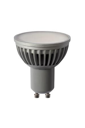 reflector: LED energy safing bulb. Light-emitting diode. Isolated object