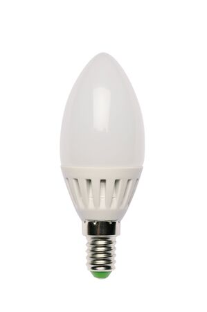 diode: LED energy saving bulb. Light-emitting diode. Isolated object