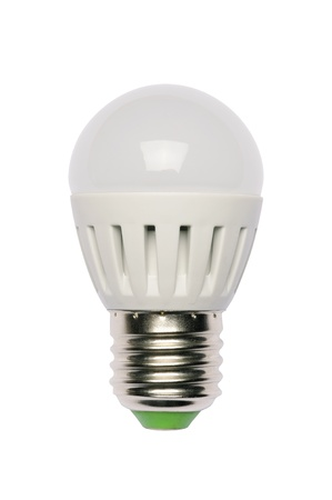 LED energy saving bulb. Light-emitting diode. Isolated object photo