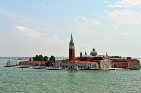 Cityscape of Venice. View from Grand canal to island. photo