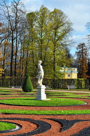 by catherine: Autumn landscape Catherine park in Pushkin, Russia. Stock Photo