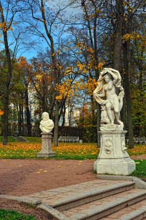 catherine: Autumn landscape Catherine park in Pushkin, Russia. Stock Photo