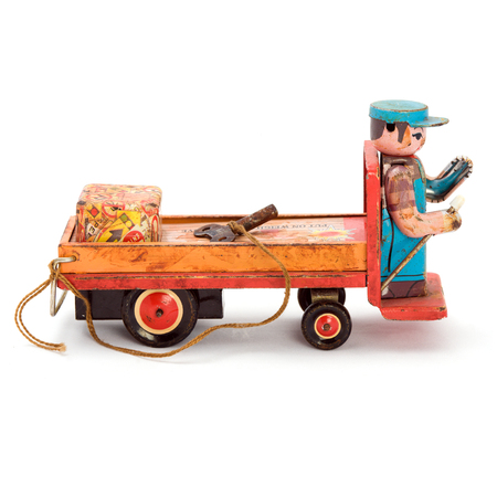 windup: Antique wind-up car with key. Isolated image.