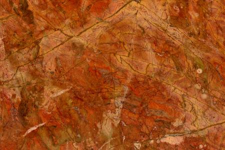natural pattern of marble red orange color polished slice mineral. Super high resolution  Rosso Damasco