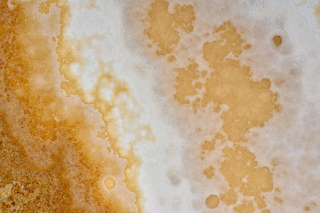 natural pattern of onyx beige color polished slice mineral. Super high resolution. Cappuccino light Archivio Fotografico