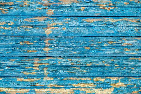 wooden boards: old wood texture with a shabby blue paint