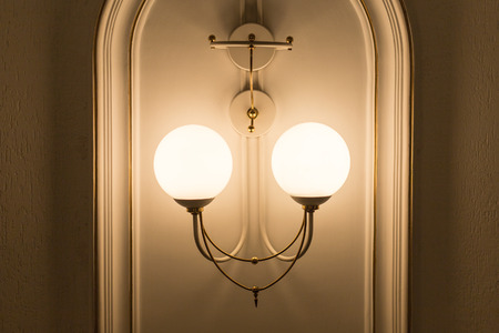 ivory chandelier, wall type horizontal position photo photo