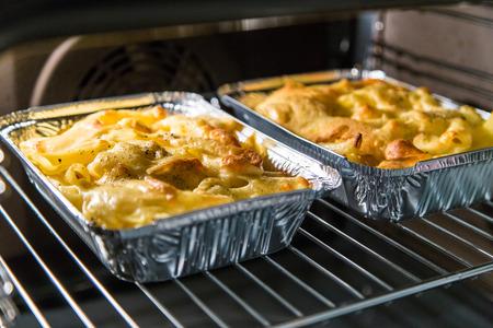 maccheroni: maccheroni with cheese in oven