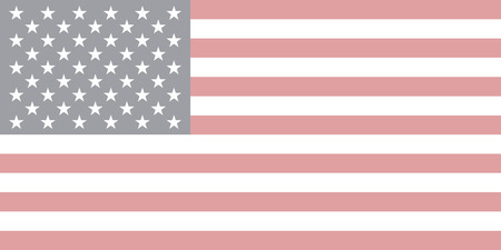 Vector of USA flag in faded style, editable size and colors
