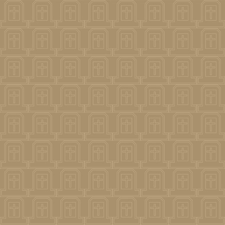 Vector seamless pattern of cross in natural brown and gray color, great as background, easy to edit colors and size
