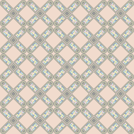 Vector seamless pattern of european ornamental style, editable colors and size