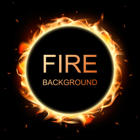 flamboyant: fire flame in circle background.
