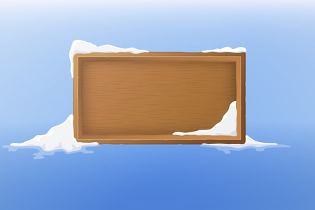 wood frame: wood frame with snow.