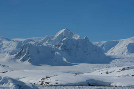 Mountain Shekelton in Antarctica, winter day. Stock Photo - 12429575