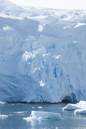 The ice sheet on the coast of Antarctica. Imagens