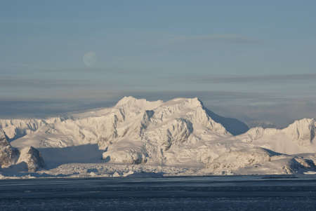 Coast of Antarctica in winter. photo
