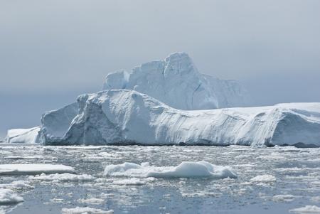 Iceberg in Antarctic Ocean Stock Photo